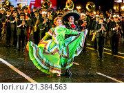 Купить «Международный фестиваль военной музыки «Спасская башня».Образцовый оркестр Вооруженных сил Мексики», эксклюзивное фото № 21384563, снято 8 сентября 2015 г. (c) Андрей Дегтярёв / Фотобанк Лори
