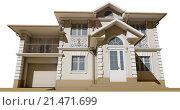 Купить «Бежевый коттедж в классическом стиле», иллюстрация № 21471699 (c) Elizaveta Kharicheva / Фотобанк Лори