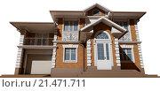 Перспектива фасада. Коттедж в классическом стиле. Стоковое фото, фотограф Elizaveta Kharicheva / Фотобанк Лори