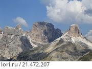 Доломитовые Альпы в окрестностях Тре Чиме ди Лаваредо, Италия (2015 год). Стоковое фото, фотограф Эльвира Рубан / Фотобанк Лори