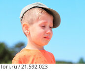 Купить «little boy crying outdoor», фото № 21592023, снято 24 августа 2019 г. (c) easy Fotostock / Фотобанк Лори