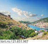 Купить «View of the bay of Balaklava in Crimea.», фото № 21651967, снято 26 июня 2013 г. (c) easy Fotostock / Фотобанк Лори