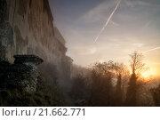 Купить «morning castle sunrise fog switzerland», фото № 21662771, снято 20 июня 2019 г. (c) PantherMedia / Фотобанк Лори