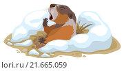 Купить «День сурка. Сурок вылез из норы и зевает», иллюстрация № 21665059 (c) Алексей Григорьев / Фотобанк Лори