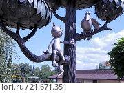 Купить «Памятник котёнку с улицы Лизюкова в Воронеже», эксклюзивное фото № 21671351, снято 23 августа 2015 г. (c) stargal / Фотобанк Лори
