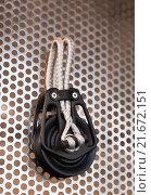 Купить «New cordage assortment on stand close up», фото № 21672151, снято 19 августа 2018 г. (c) Яков Филимонов / Фотобанк Лори