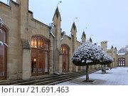 Купить «Нарзанная галерея зимой в Кисловодске», эксклюзивное фото № 21691463, снято 20 января 2016 г. (c) Алексей Гусев / Фотобанк Лори