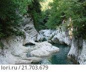 Купить «Горная река», фото № 21703679, снято 1 сентября 2007 г. (c) Александр Карпенко / Фотобанк Лори