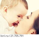 Купить «mother kissing her baby», фото № 21705791, снято 22 декабря 2007 г. (c) Syda Productions / Фотобанк Лори