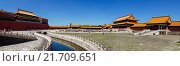 Купить «Beijing, China - Panorama view at Forbidden City in the daytime.», фото № 21709651, снято 27 июня 2014 г. (c) age Fotostock / Фотобанк Лори