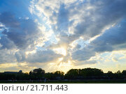 Закат в Санкт-Петербурге. Стоковое фото, фотограф Дмитрий Загурский / Фотобанк Лори