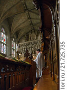 Oxford, United Kingdom, Evensong in the Chapel of Magdalen College (2012 год). Редакционное фото, агентство Caro Photoagency / Фотобанк Лори