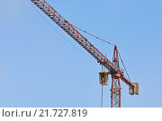 Купить «Строительный кран крупным планом», фото № 21727819, снято 10 января 2016 г. (c) Сергей Трофименко / Фотобанк Лори