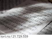 Страницы с нотами (2015 год). Редакционное фото, фотограф Сергей Блинов / Фотобанк Лори