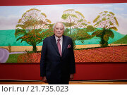 Berlin, Germany, exhibition of Hockney to Holbein - The Würth Collection, in the Martin-Gropius-Bau, Reinhold Würth (2015 год). Редакционное фото, агентство Caro Photoagency / Фотобанк Лори
