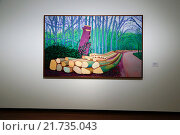 Berlin, Germany, exhibition of Hockney to Holbein - The Würth Collection in Martin-Gropius-Bau (2015 год). Редакционное фото, агентство Caro Photoagency / Фотобанк Лори