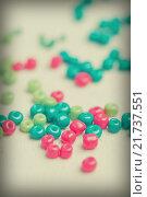 Купить «Colored glass beads», фото № 21737551, снято 30 сентября 2015 г. (c) Типляшина Евгения / Фотобанк Лори