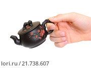 Купить «Рука держит чайник», фото № 21738607, снято 8 февраля 2016 г. (c) Дмитрий Крамар / Фотобанк Лори