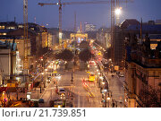 Berlin, Germany, construction site Unter den Linden (2014 год). Редакционное фото, агентство Caro Photoagency / Фотобанк Лори