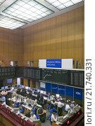 Купить «Frankfurt am Main, German Stock Exchange», фото № 21740331, снято 11 мая 2006 г. (c) Caro Photoagency / Фотобанк Лори