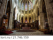 Купить «Interior of the Cathedral of Bordeaux, Aquitaine, France, Europe», фото № 21746159, снято 30 сентября 2015 г. (c) age Fotostock / Фотобанк Лори
