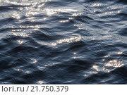 Поверхность моря с солнечными зайчиками на волнах. Стоковое фото, фотограф Роман Ушаков / Фотобанк Лори