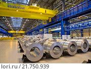Оцинкованный стальной лист для автомобильной промышленности. Стоковое фото, фотограф Дмитрий Рухмалев / Фотобанк Лори