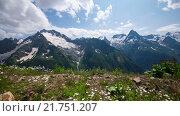 Купить «Горы летом, Кавказ, Домбай», видеоролик № 21751207, снято 17 июля 2015 г. (c) Анатолий Типляшин / Фотобанк Лори