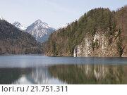Горное озеро Альпзее в Баварии (2013 год). Стоковое фото, фотограф Эльвира Рубан / Фотобанк Лори