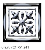 Купить «Узор в темных тонах на белом фоне», иллюстрация № 21751911 (c) Сергеев Валерий / Фотобанк Лори