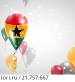 Купить «Флаг Ганы», иллюстрация № 21757667 (c) Maryna Bolsunova / Фотобанк Лори