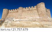 Closeup of castle. Chinchilla de Monte-Aragon (2014 год). Стоковое фото, фотограф Яков Филимонов / Фотобанк Лори