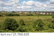 Сельский пейзаж. Окраина Суздаля. Стоковое фото, фотограф Олег Пученков / Фотобанк Лори