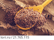 Купить «Семена льна», фото № 21765115, снято 11 февраля 2016 г. (c) Икан Леонид / Фотобанк Лори