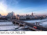 Бородинский мост, Москва (2016 год). Стоковое фото, фотограф Сергей Алимов / Фотобанк Лори