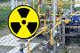 Купить «Желтый знак радиационной опасности на заборе объекта», фото № 21765291, снято 21 февраля 2014 г. (c) Сергеев Валерий / Фотобанк Лори