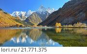 Купить «Озеро осенью в Кавказских горах», фото № 21771375, снято 17 октября 2015 г. (c) александр жарников / Фотобанк Лори