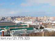 Вид на Чебоксары, фото № 21775323, снято 12 февраля 2016 г. (c) Александр Якимов / Фотобанк Лори