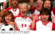 Купить «Family watching a football match», видеоролик № 21777831, снято 23 августа 2019 г. (c) Wavebreak Media / Фотобанк Лори