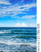 Купить «Море и голубое небо с облаками», иллюстрация № 21788935 (c) Дмитрий Брусков / Фотобанк Лори