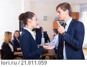 Купить «Angry manager and employee at office», фото № 21811059, снято 20 марта 2019 г. (c) Яков Филимонов / Фотобанк Лори