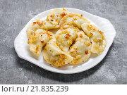 Купить «Traditional polish dumplings. Polish appetizer», фото № 21835239, снято 19 февраля 2019 г. (c) BE&W Photo / Фотобанк Лори