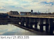 Псков. Мост через реку Великая. Стоковое фото, фотограф Александр Рыбин / Фотобанк Лори