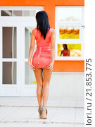Купить «Sexy young lady from behind, adjusting her minidress», фото № 21853775, снято 14 декабря 2018 г. (c) age Fotostock / Фотобанк Лори