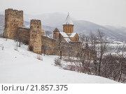 Грузия. Древняя крепость Ананури зимой (2016 год). Стоковое фото, фотограф Gagara / Фотобанк Лори