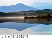 Североуральский пруд осенью. Стоковое фото, фотограф Виктор Воинков / Фотобанк Лори
