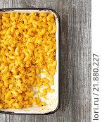 Купить «mac and cheese», фото № 21880227, снято 24 февраля 2019 г. (c) PantherMedia / Фотобанк Лори