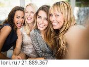 Купить «Group of beautiful women having fun», фото № 21889367, снято 4 ноября 2015 г. (c) Wavebreak Media / Фотобанк Лори