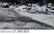 Купить «Мощный водопад Tännforsen в Швеции», видеоролик № 21889863, снято 20 августа 2019 г. (c) Павел Котельников / Фотобанк Лори