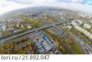 Купить «Можайский район. Москва. Вид сверху», фото № 21892047, снято 13 октября 2014 г. (c) Юрий Губин / Фотобанк Лори